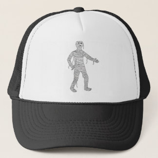Halloween mummy trucker hat
