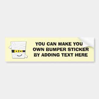 Halloween Mummy Tshirts and Gifts Car Bumper Sticker