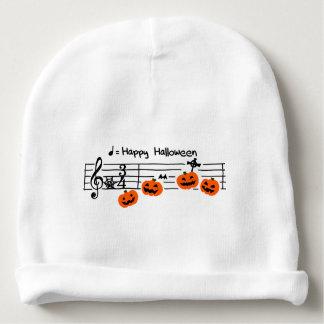 < Halloween musical score >Halloween Music score Baby Beanie