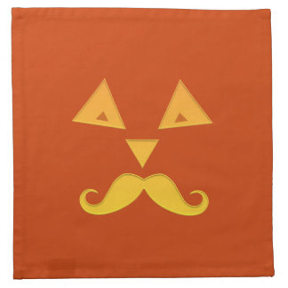 Halloween Mustache Pumpkin cloth napkins