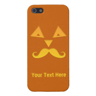 Halloween Mustache Pumpkin custom phone cases Case For The iPhone 5