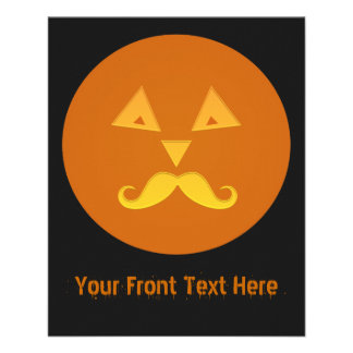 Halloween Mustache Pumpkin flyers