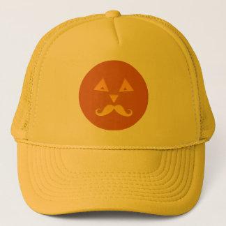 Halloween Mustache Pumpkin hats