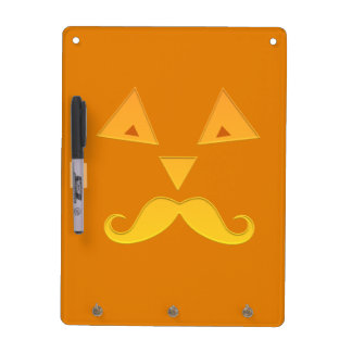Halloween Mustache Pumpkin message boards Dry Erase Whiteboard