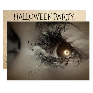 Halloween Mystical Eyes Party Invitation