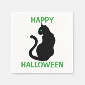 Halloween Napkin/Black Cat Paper Napkin