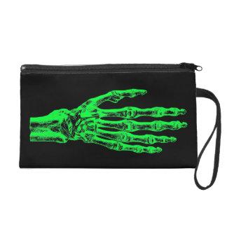 Halloween neon green zombie hands wristlet purses