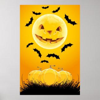 Halloween night background poster