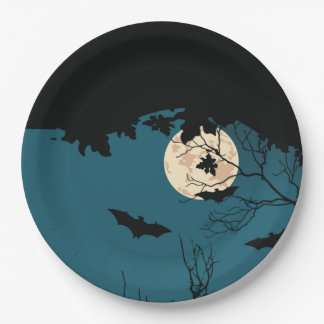 Halloween Night Halloween Party Paper Plates