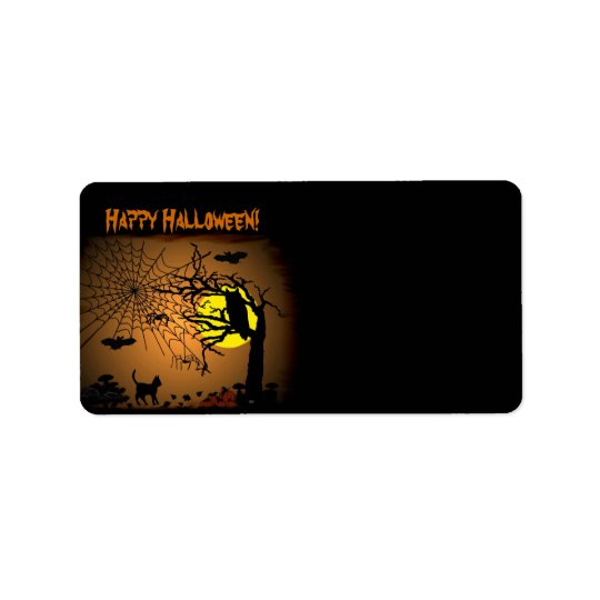 Halloween Night , Happy Halloween! Address Label