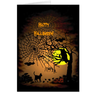Halloween Night , Happy Halloween! Card