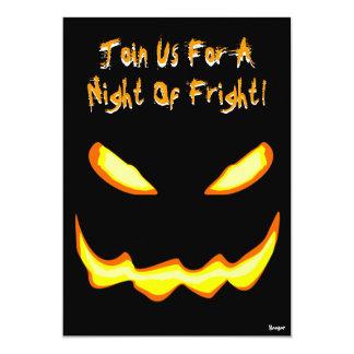 "Halloween- Night of Fright Invitation 5"" X 7"" Invitation Card"