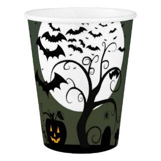 Halloween night paper cups