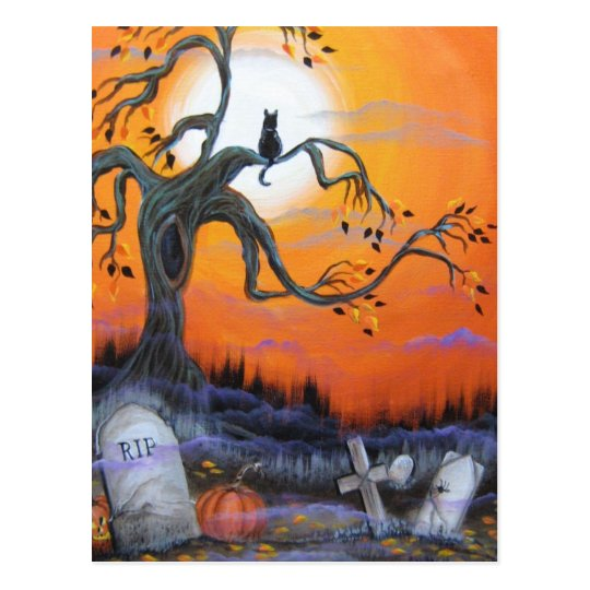 Halloween Night Products Postcard