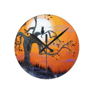 Halloween Night Products Round Clock