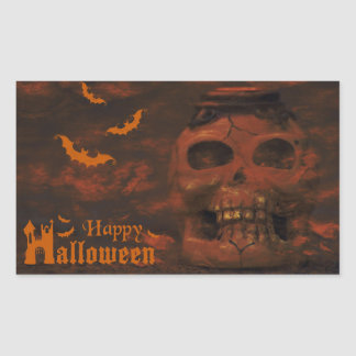 Halloween night rectangular sticker