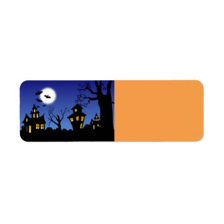 Halloween Night Return Address Label