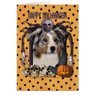 Halloween Nightmare - Australian Shepherd Card