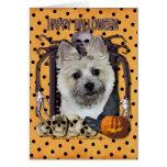 Halloween Nightmare - Cairn Terrier - Teddy Bear Note Card