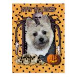 Halloween Nightmare - Cairn Terrier - Teddy Bear Post Cards