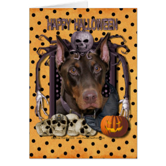 Halloween Nightmare - Doberman - Rocky Card