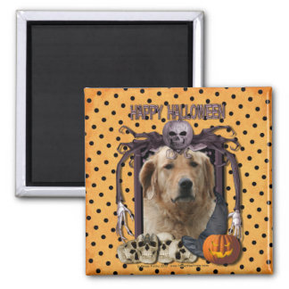 Halloween Nightmare - Golden Retriever - Mickey Magnet