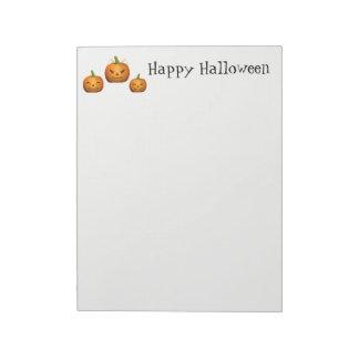 Halloween Notepad Pumpkins