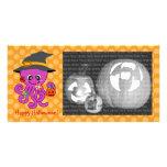 Halloween Octopus Customized Photo Card