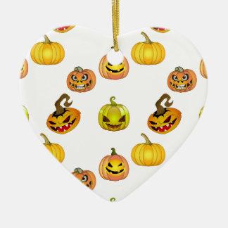 Halloween of free style bites pumpkins ceramic heart decoration