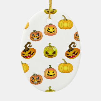 Halloween of free style bites pumpkins ceramic oval decoration