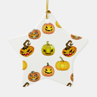 Halloween of free style bites pumpkins ceramic star decoration