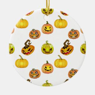 Halloween of free style bites pumpkins round ceramic decoration