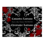 Halloween or vampire theme wedding save the date postcard
