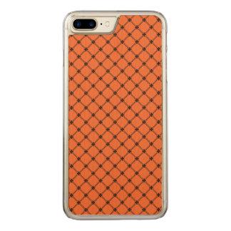 Halloween Orange and Black Pattern Carved iPhone 8 Plus/7 Plus Case