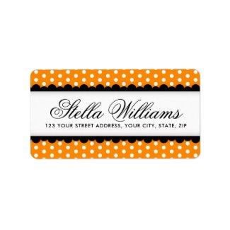 Halloween orange and black return address label