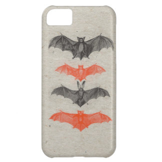 Halloween Orange Black Bats Vintage Gothic Party iPhone 5C Case