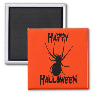 Halloween Orange Black Creepy Spider Magnet