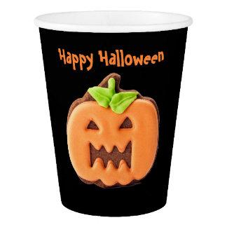 Halloween Orange Pumpkin Paper Cup