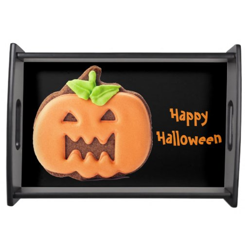 Halloween Orange Pumpkin Serving Tray