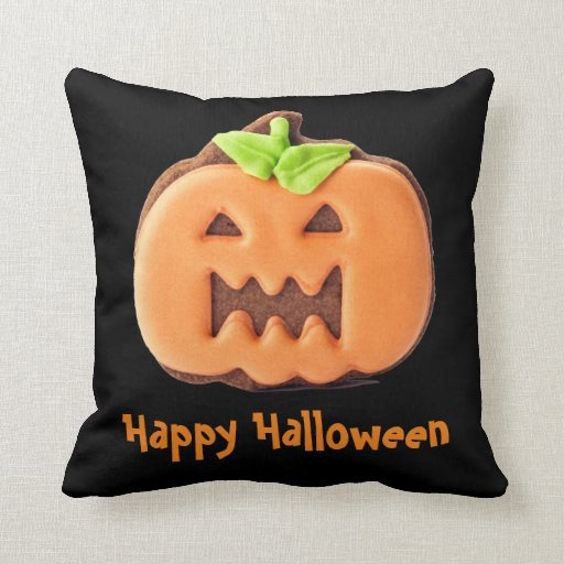 Halloween orange pumpkin Throw Pillow