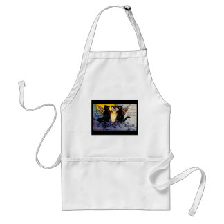 Halloween Owl and Black Cats Standard Apron