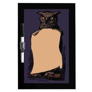 Halloween Owl Dry Erase Board