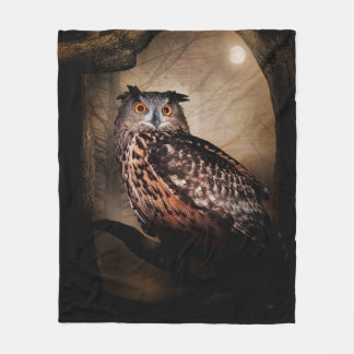 Halloween Owl Fleece Blanket