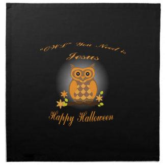 Halloween Owl Napkin
