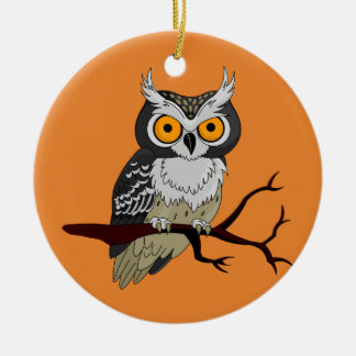 Halloween Owl On Branch Christmas Ornament