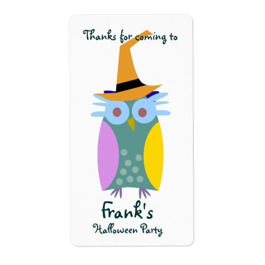 Halloween Owl Shipping Label