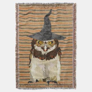 Halloween Owl Throw Blanket