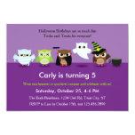 Halloween Owls in Costume Birthday  Invitation