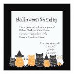 Halloween Owls 5.25x5.25 Square Paper Invitation Card
