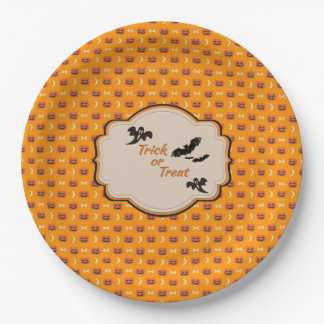 """Halloween Paper Plates 9"""" 9 Inch Paper Plate"""